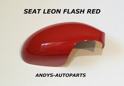 SEAT CORDOBA 02 - 06 GENUINE WING MIRROR COVER LH OR R/H IN FLASH RED